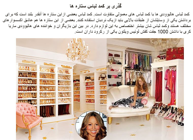 Celebrities Walk In Closets